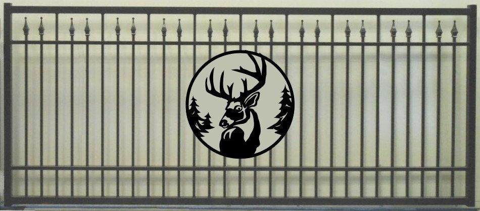 Deer Head Single Princess Rectangle Gate 3' circle