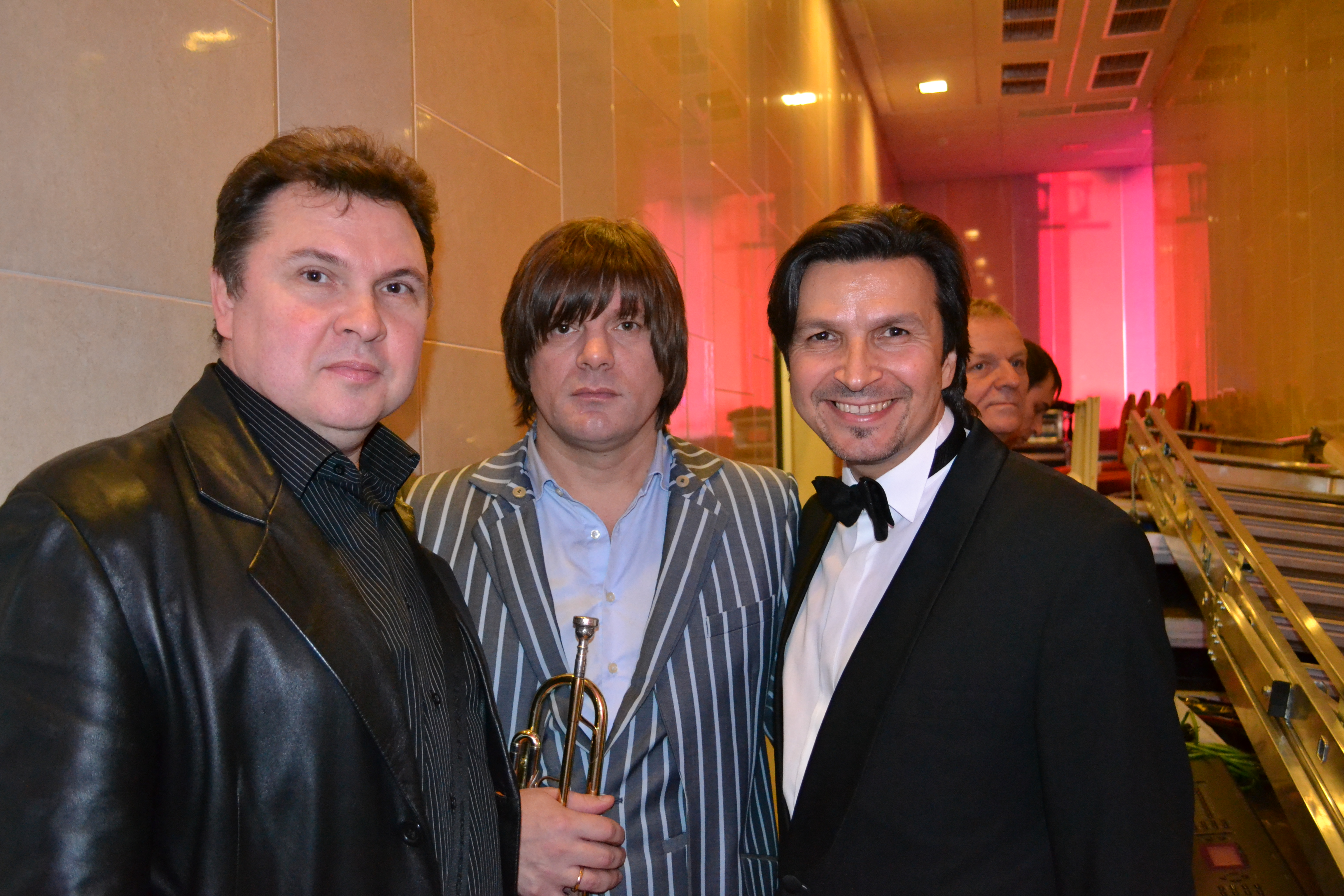 С Трубачом и Игорем Барыкиным