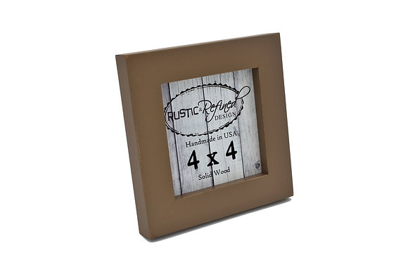 "4x4 1"" Gallery Picture Frame - Mocha"