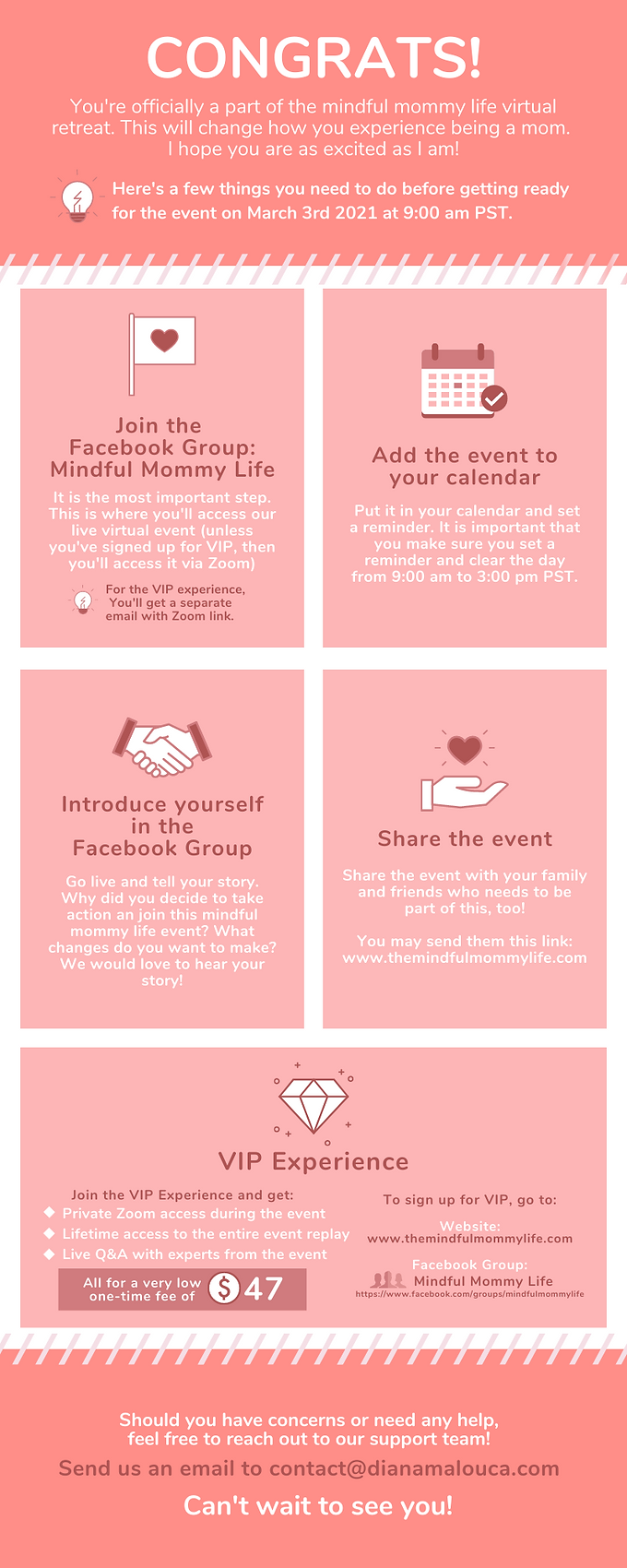 Red Reasons to Give to Charity Infograph