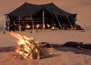 Glamping in der Wahiba Sands Wüste im Oman