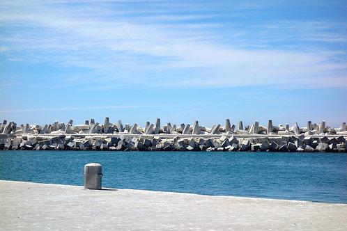 Hafen Robben Island, Mandela Robben Island, Betonwellenbrecher