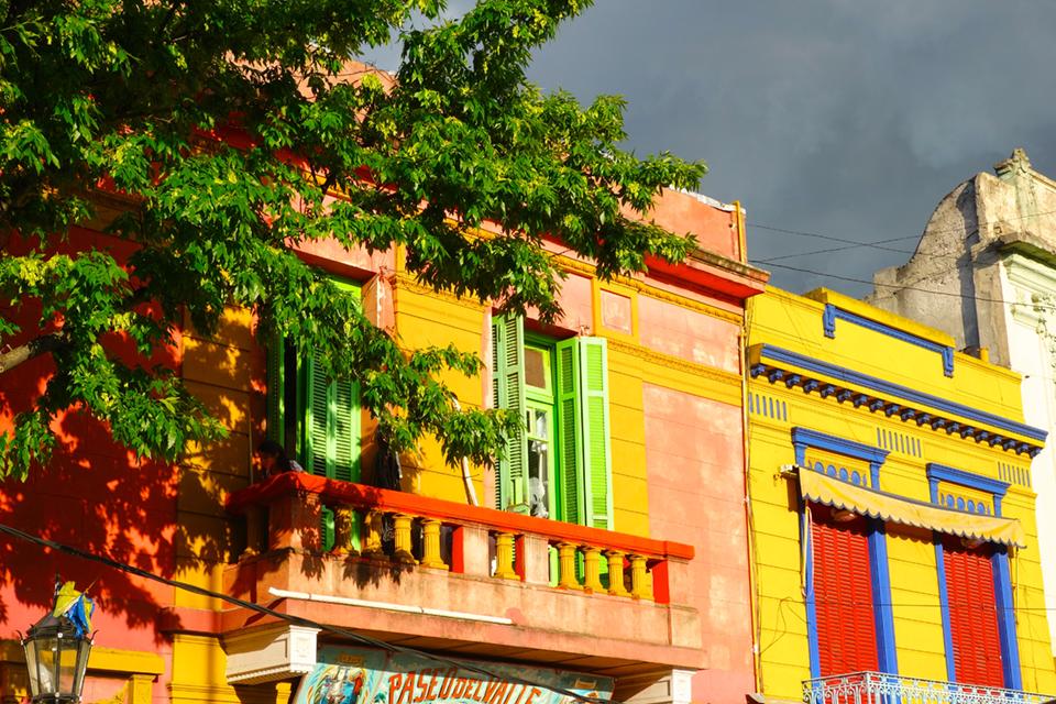 Buenos Aires - Stadtteil La Bocca, die bunten Häuser