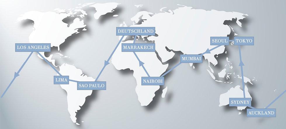 Weltreise in 30 Tagen, schnelle Weltreise, Kurz-Weltreise, Weltreise für Eilige, Luxus Weltreise