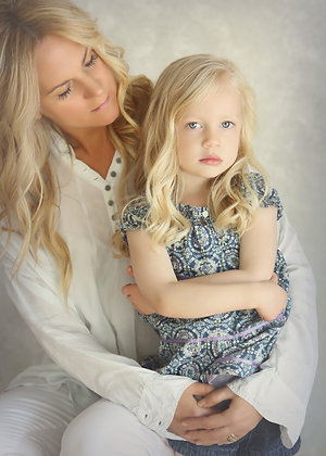 Mother and Daughter Contemporary Portrait Session