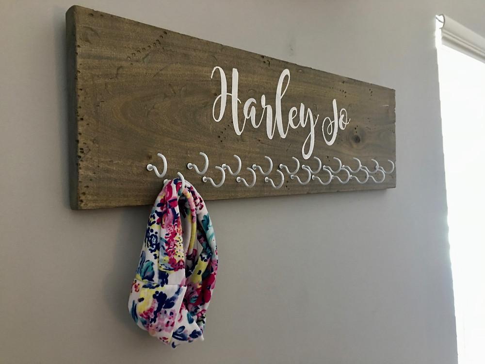 DIY Rustic Headband Hanger