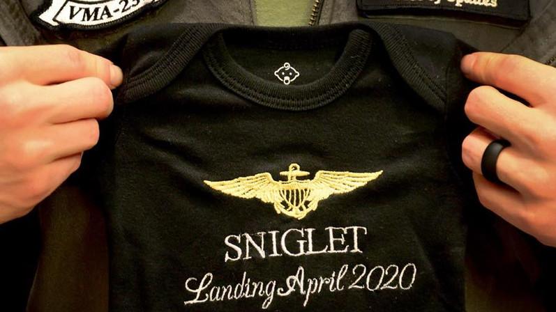 custom baby announcement onesie