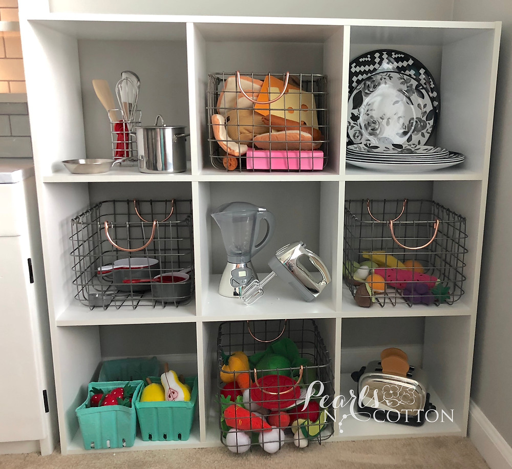 Kids Play Kitchen Pantry