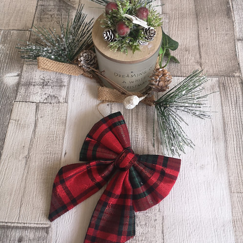 Red Christmas Lurex Bow