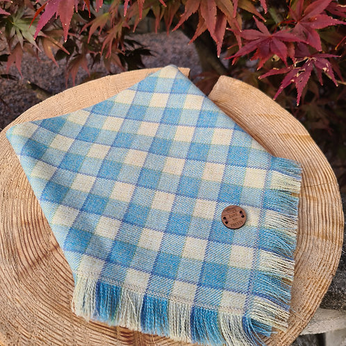 powder blue check Bandana
