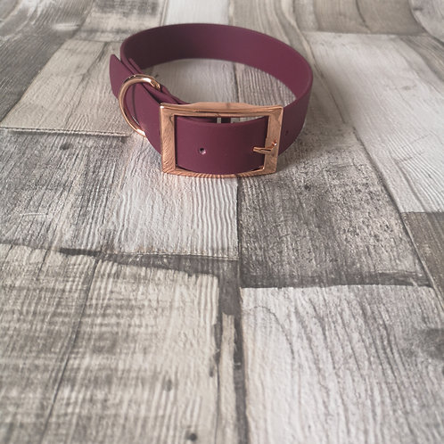 WINE Biothane Collar SILVER BUCKLE