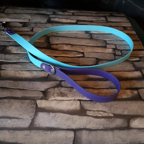 TEAL/ROYAL BLUE 2 Colour Biothane Lead