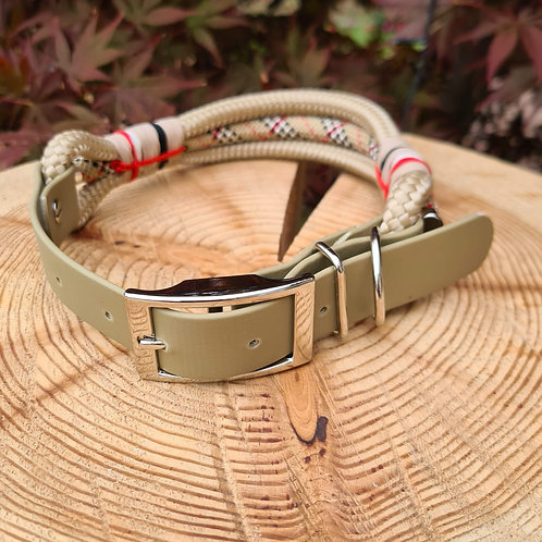 triple rope and biothane adjustable strap