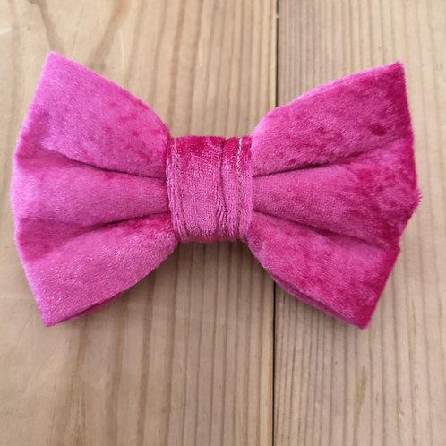 pink velvet bow
