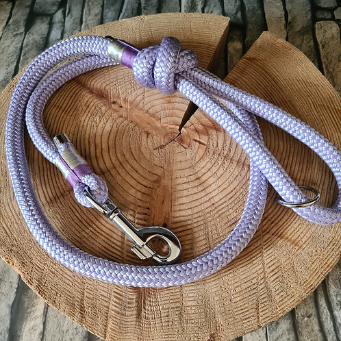 lilac 12mm ppm rope lead 1.2m