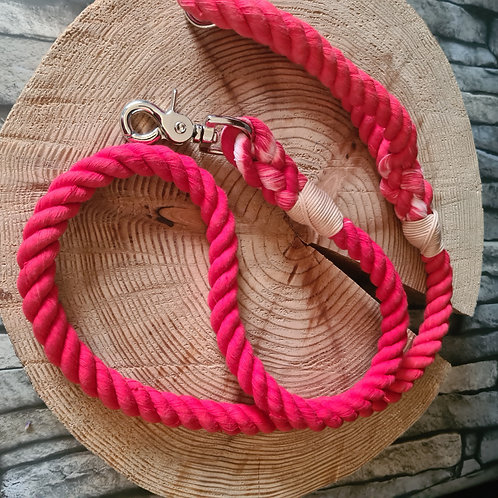 red 14mm cotton rope lead 1.2mre