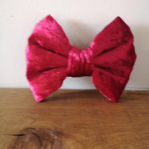 red velvet bow