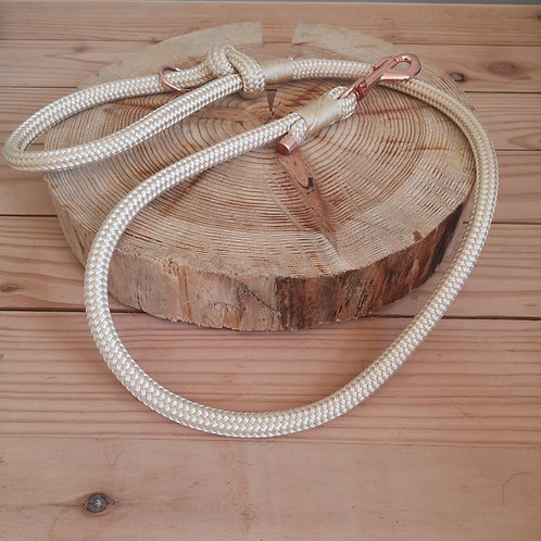 shiny gold rope lead