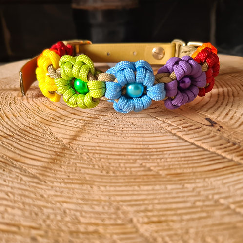 flower paracord and biothane colla