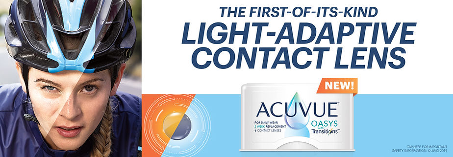 Transitions contact lenses, the worlds first photochromic contact lens