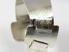 bracelet fait de chutes d'argent