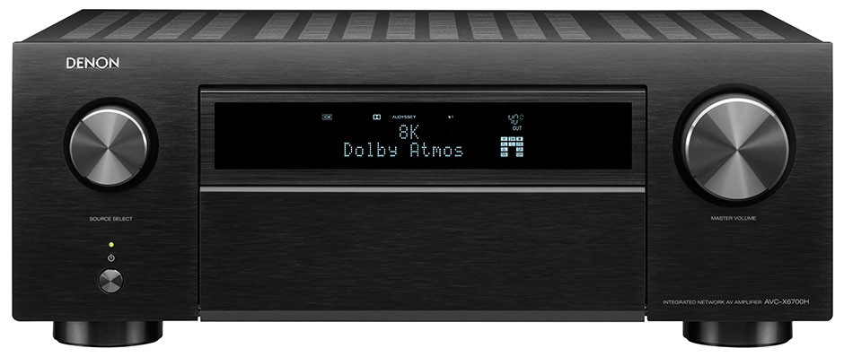 DENON AVC-X6700H - black front