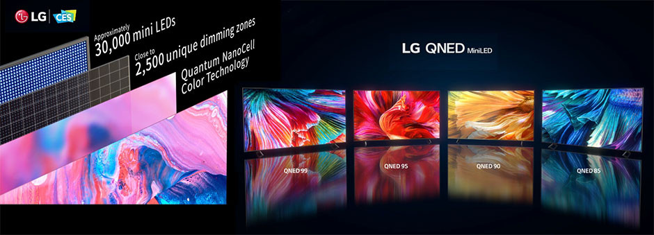 CES 2021 - LG QNED display