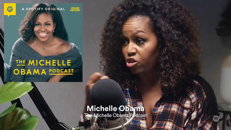 Spotify podcasts - Michelle Obama