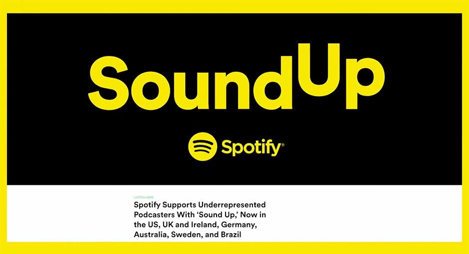 Spotify podcasts - Sound Up