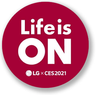 CES 2021 / LG logo - Life is ON