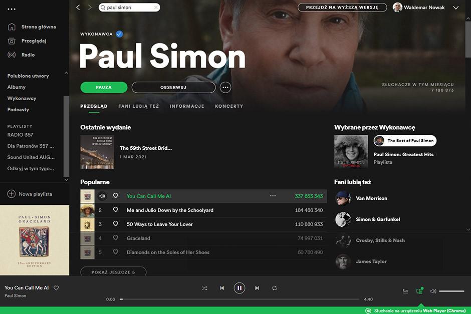 Spotify - new interface