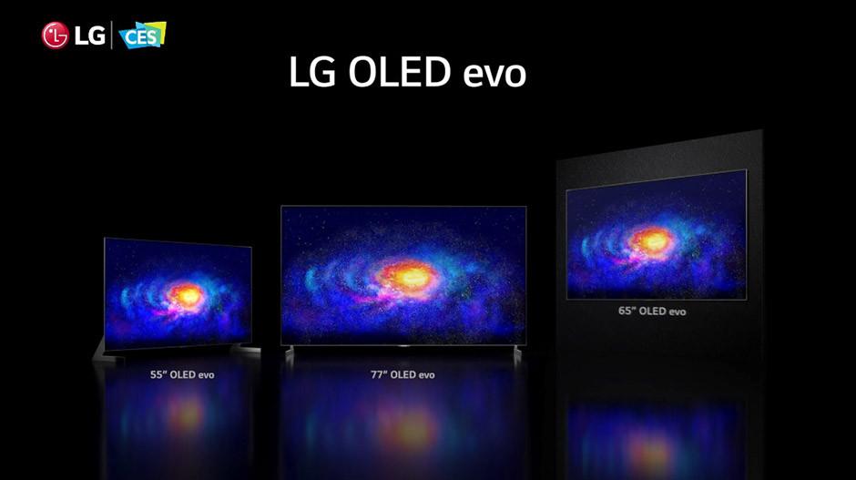 CES 2021 - LG OLED evo lineup