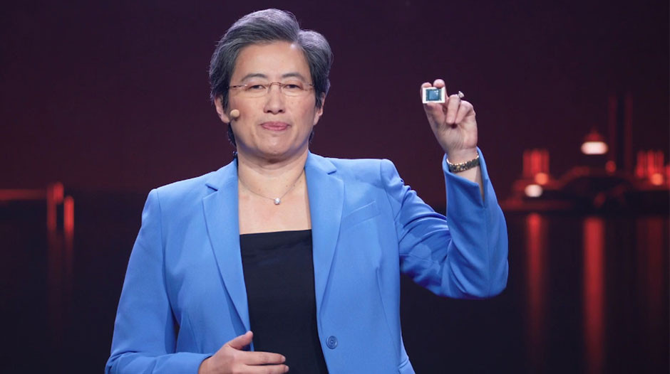 CES 2021 - AMD Dr. Lisa Su and mobile processor
