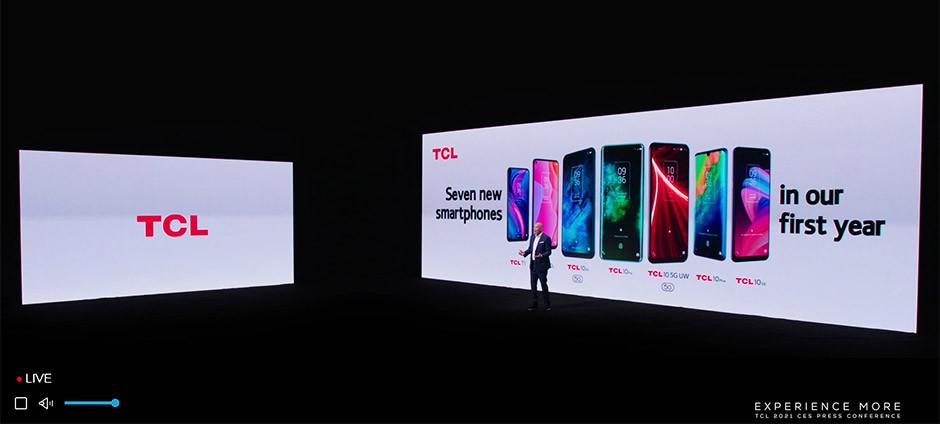 CES 2021 / TCL - smartphones Series 10