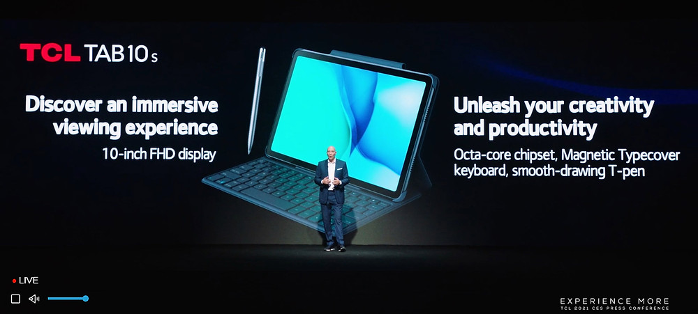CES 2021 / TCL - TAB 10s press conference
