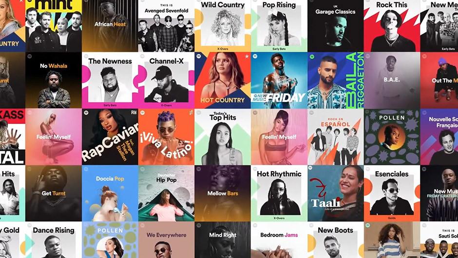 Spotify - many playlists