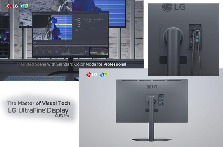 """CES 2021 - LG OLED Pro 32"""" display"""