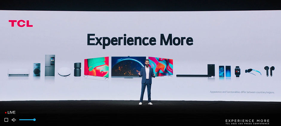 CES 2021 / TCL - press conference Experience More