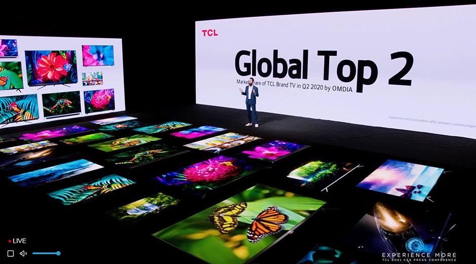 CES 2021 / TCL - tv brand no. 2