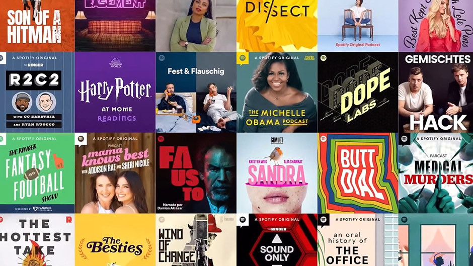 Spotify podcasts samples