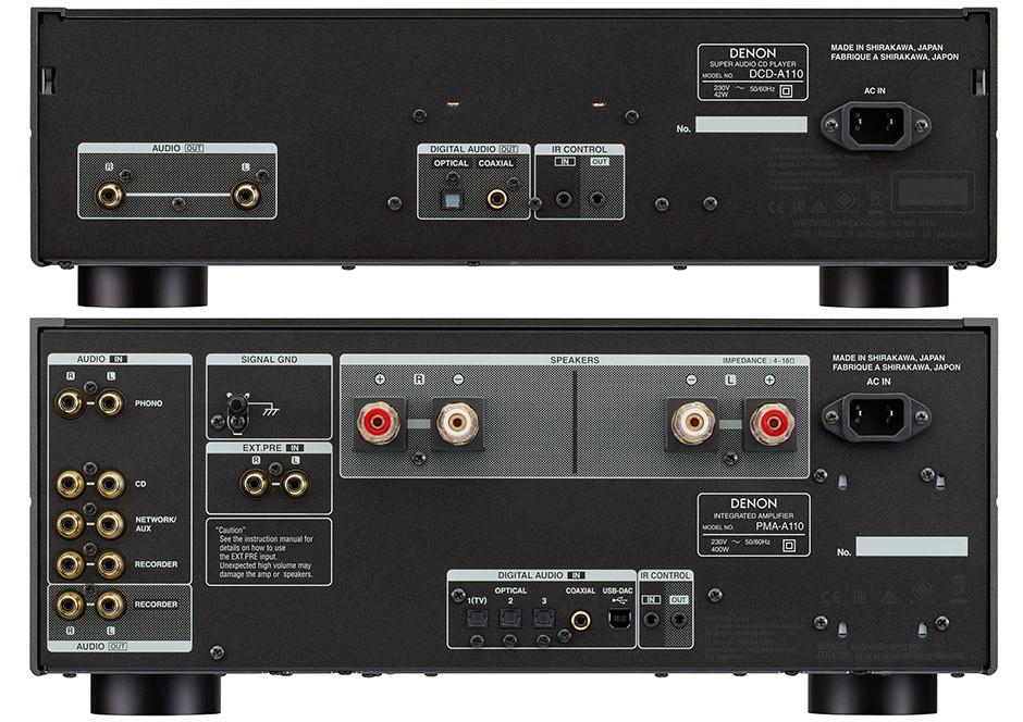 Denon DCD-A110 i PMA-A110 tył