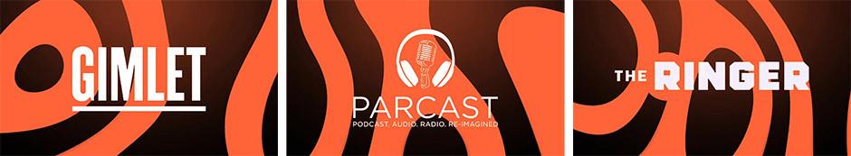 Gimlet, Parcast, The Ringer logos