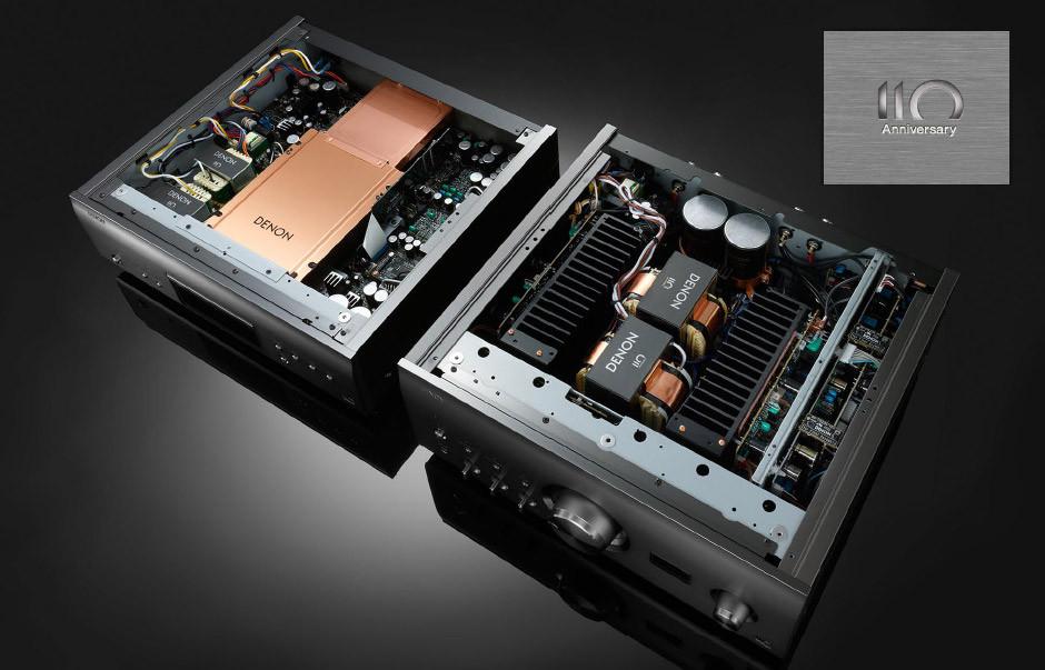 Denon DCD-A110 i PMA-A110 wnętrze