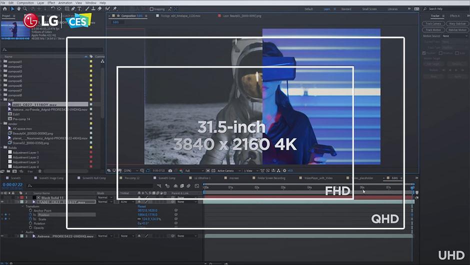 CES / LG - UltraFine Display OLED Pro size