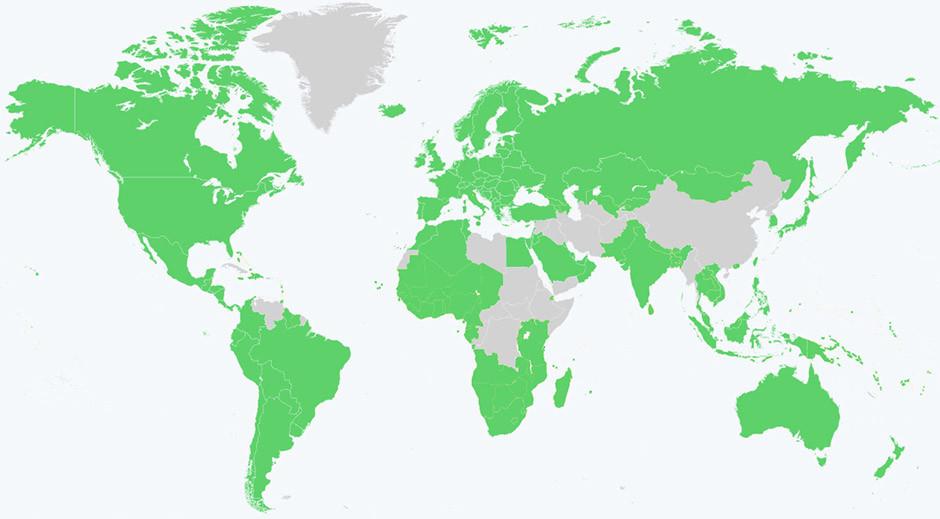 Spotify - territory map