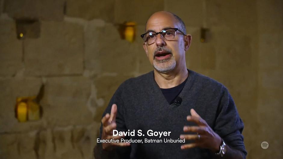 Spotify podcasts - David S. Goyer - Batman Unburied director