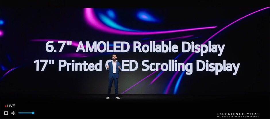 CES 2021 / TCL - rollable displays