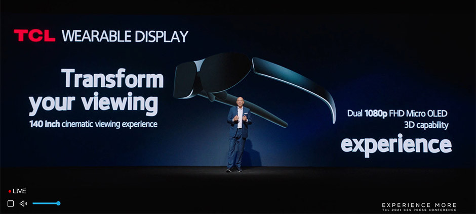 CES 2021 / TCL - WEAREABLE DISPLAY press conference
