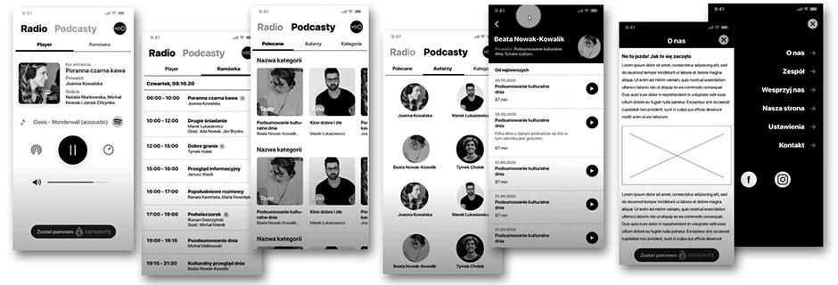 Radio 357 - szkic aplikacji
