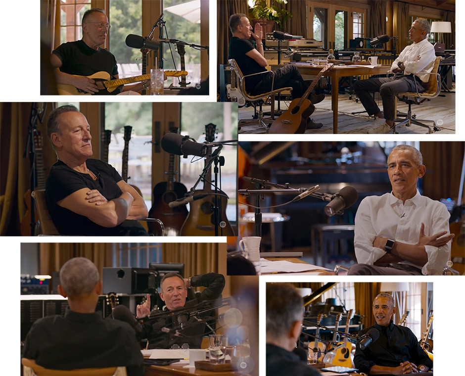 Spotify podcasts - Obama / Springsteen